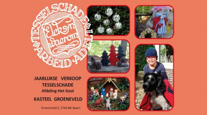Sonja Verloop van Tesselschade Arbeid Adelt over hun jaarlijkse verkoop 24 en 25 november in Kasteel Groeneveld