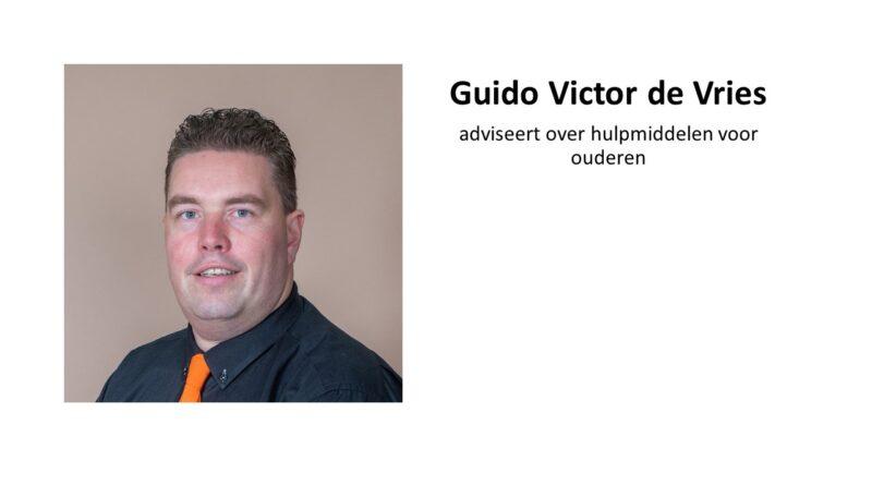 Guido Victor de Vries adviseert over hulpmiddelen voor ouderen .