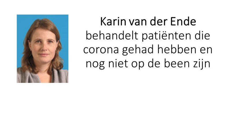 Karin  van der Ende over Team covid-19 wat onlangs van start is gegaan .