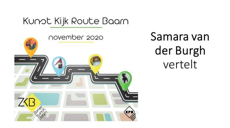 Samara van der Burgh heeft het druk met de voorbereiding van de Kunst Kijk Route.