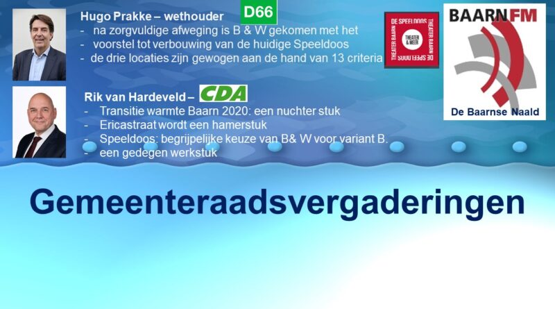 Raadsvergaderingen nov – dec